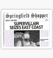 Hank Scorpio Newspaper Article Sticker
