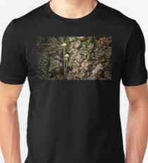 Mushrooms Growing From a Tree Trunk Unisex T-Shirt