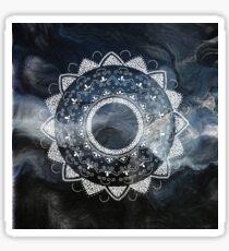 Asana blue and white hand drawn mandala Sticker