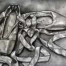 Pointe shoes in Ink by Rachelle Dyer