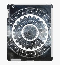 Gentle with my words blue and white hand drawn mandala iPad Case/Skin