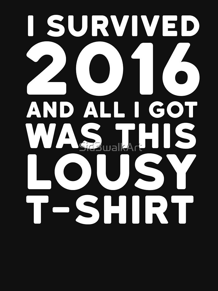 """2016 Funny Ironic Sarcastic Humor New Year Quote 2"" T ..."
