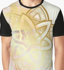 Centered and open pink and white hand drawn mandala Graphic T-Shirt
