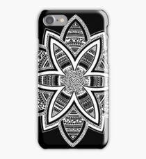 Wholness black and white mandala iPhone Case/Skin