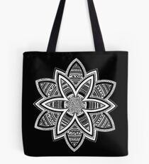 Wholness black and white mandala Tote Bag