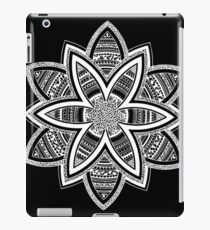 Wholness black and white mandala iPad Case/Skin