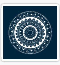 Expressive blue and white hand drawn mandala Sticker