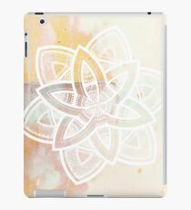 Light and love pink and white hand drawn mandala iPad Case/Skin