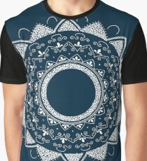Healing my past blue and white hand drawn mandala Graphic T-Shirt