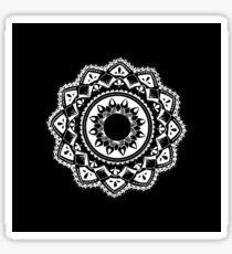 Cellular black and white mandala Sticker