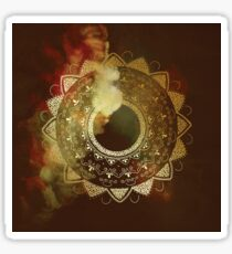 Wothy of all golden mandala Sticker