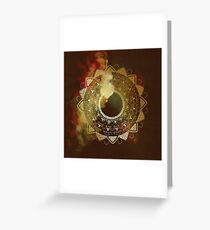 Wothy of all golden mandala Greeting Card