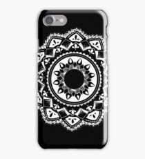 Cellular black and white mandala iPhone Case/Skin