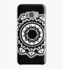 Cellular black and white mandala Samsung Galaxy Case/Skin