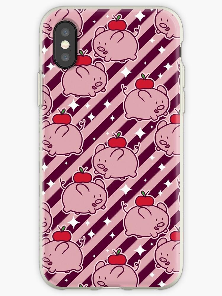 Apple Pig Striped Pattern by SaradaBoru