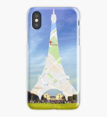 Maps eiffel iPhone Case
