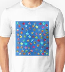 Colorful Pinwheels on Blue Background T-Shirt