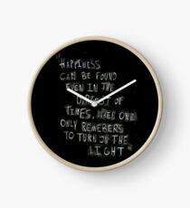 turn on the light Clock