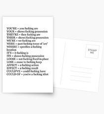 Angry Grammar Postcards
