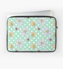 Polk-a-dot Daffodil Pattern Laptop Sleeve