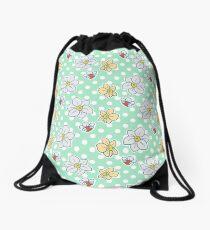 Polk-a-dot Daffodil Pattern Drawstring Bag
