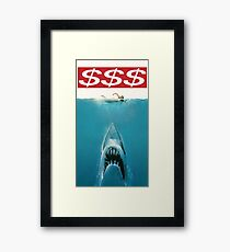 $$$ JAWS Framed Print