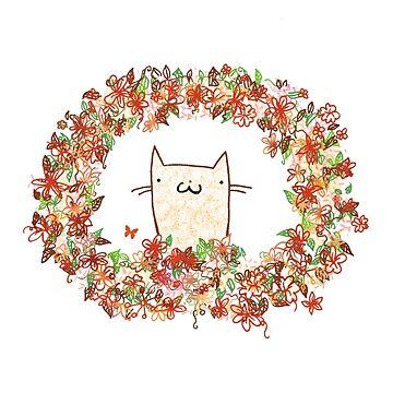 Autumn Cat by katyannabel
