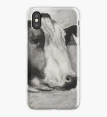 charcoal cow iPhone Case/Skin