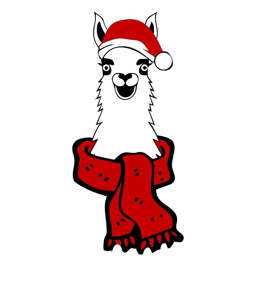 Christmas Llama  by CreativeStrike