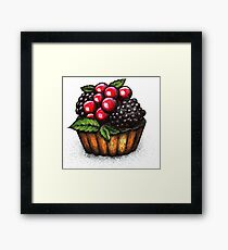 sweet, dessert, cake, fruit Framed Print