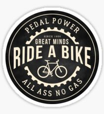 Great minds ride a bike Sticker