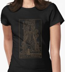 Queen of Wands Womens Fitted T-Shirt