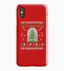 Chemistry Oh Chemistree Ugly Christmas Sweater iPhone Case