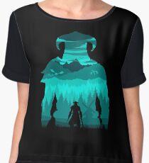 Dragonborn Silhouette Women's Chiffon Top