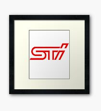 STI Red Classic Back Only Framed Print