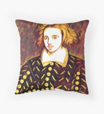 CHRISTOPHER MARLOWE - ELIZABETHAN, POET, SPY Throw Pillow