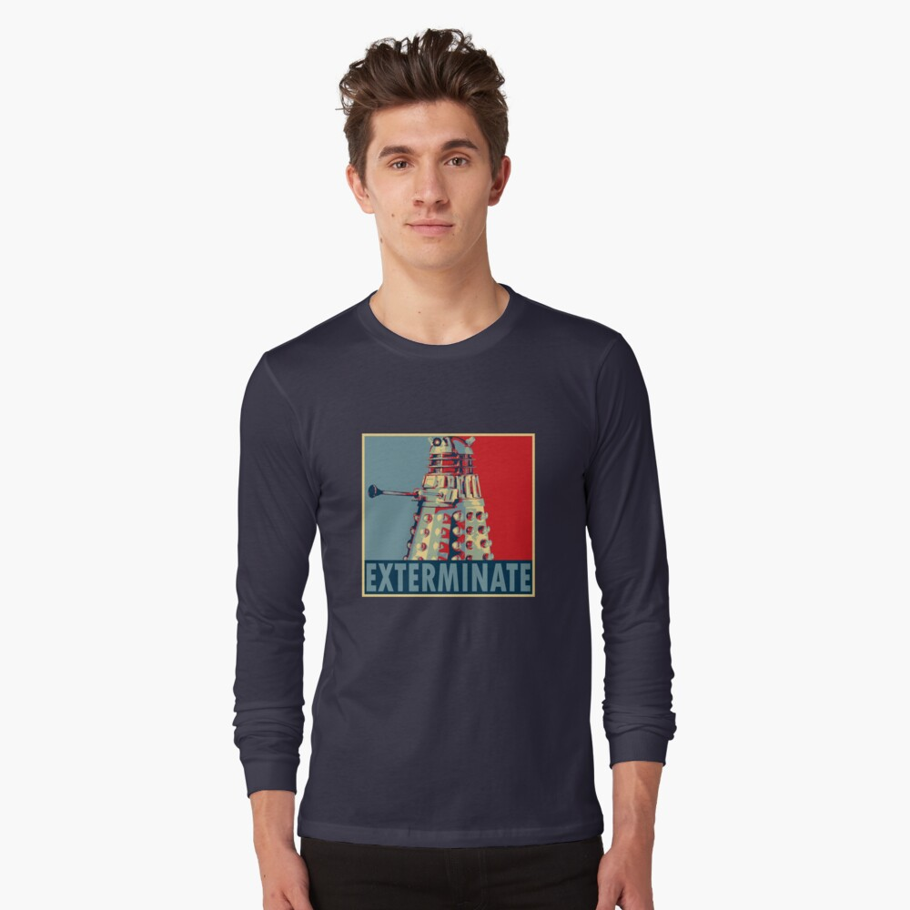 Exterminate Long Sleeve T-Shirt Front
