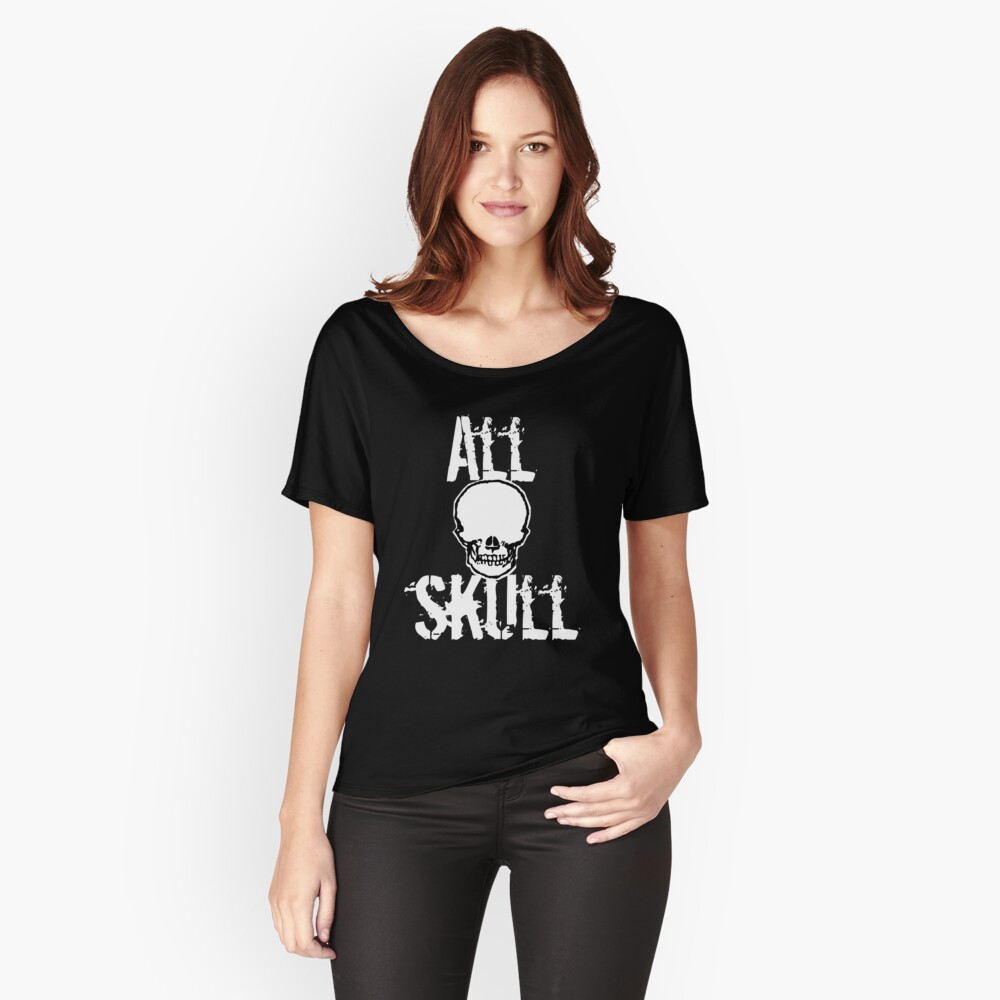 All Skull - The Dark Side Women's Relaxed Fit T-Shirt Front
