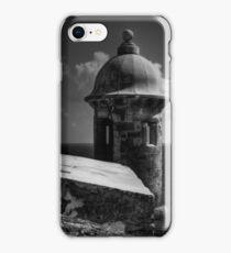 Garita del Morro 001 BW iPhone Case/Skin