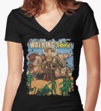 Walking Toys Women's Fitted V-Neck T-Shirt