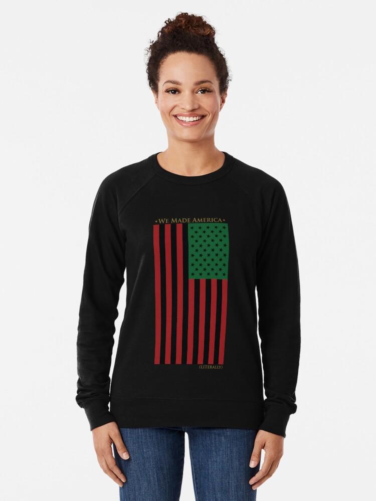 Alternative Ansicht von ROT SCHWARZ UND GRÜNE FLAGGE Leichter Pullover