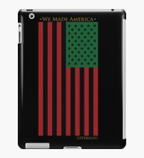 RED BLACK AND GREEN FLAG iPad Case/Skin