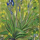 Irises, Van Gogh art reproduction. Acrylic painting by naturematters