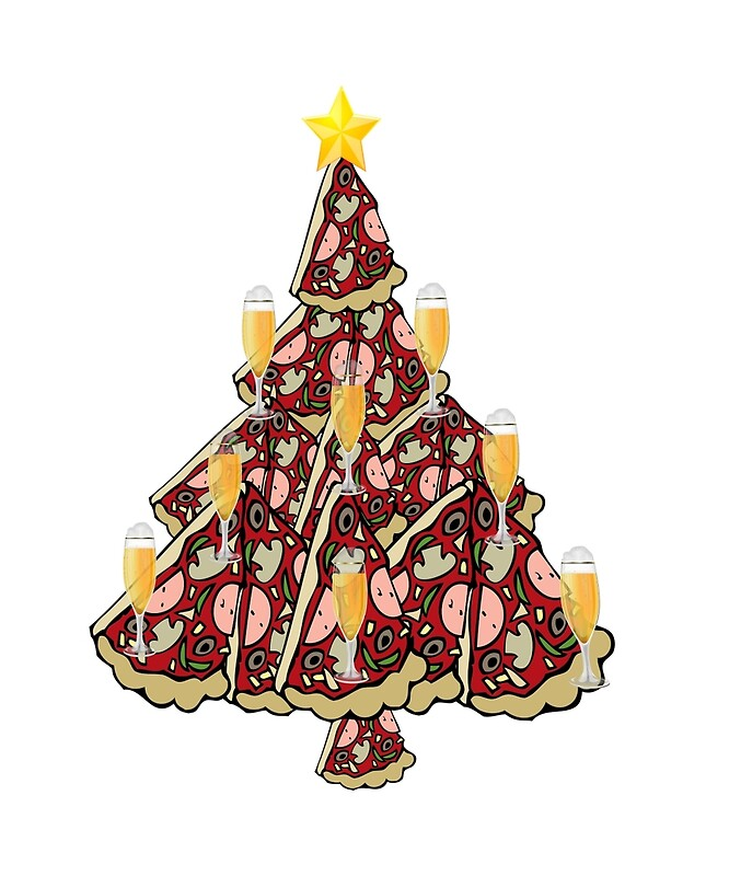 """""""Beer Pizza Christmas Tree T-Shirt """" Posters by pcreations ..."""