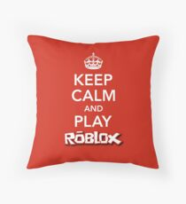 KEEP CALM AND PLAY ROBLOX Throw Pillow
