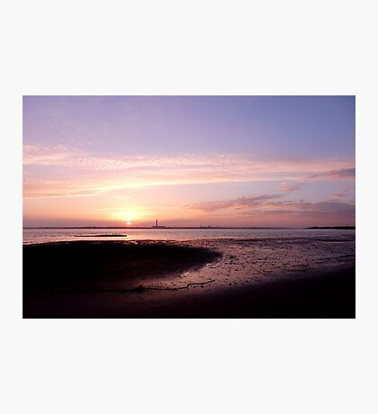 Sunset across the Solent Photographic Print