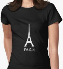 Paris Eiffel Tower France Womens Fitted T-Shirt