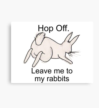 Hop Off sketch Canvas Print