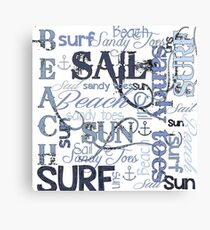 Beach Quotes & Sayings Canvas Print