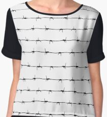 Barb Wire Women's Chiffon Top